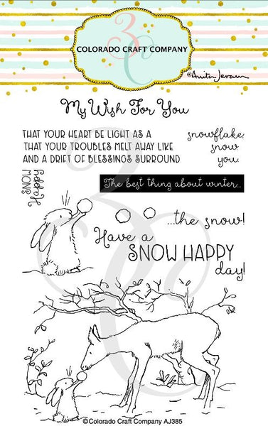"Colorado Craft Company, Clear Stamps 4""X6"", Snow Happy-By Anita Jeram"
