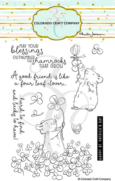 "Colorado Craft Company Clear Stamps 4""X6"", 4 Leaf Clover-By Anita Jeram"