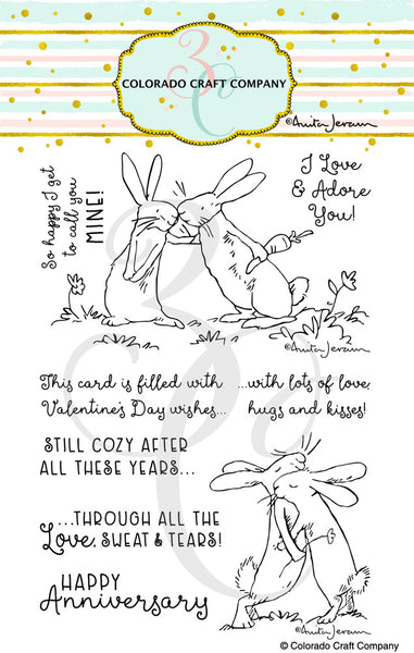 "Colorado Craft Company Clear Stamps 4""X6"", Lots Of Love-By Anita Jeram"