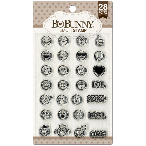 BoBunny Stamps, Clear Stamp, Summer Mood - Emoji - Scrapbooking Fairies