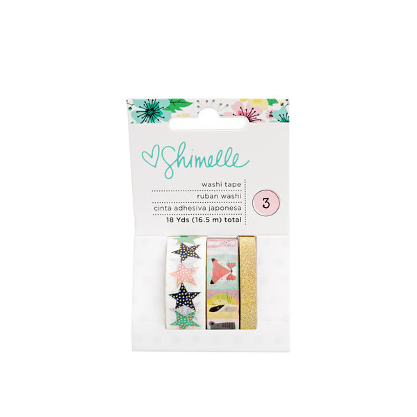 American Crafts, Little By Little, Gold Foil & Glitter, Washi Tape - Scrapbooking Fairies