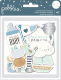 Night Night Baby Boy Ephemera Cardstock Die-Cuts 40/Pkg, Shapes W/Gold Foil - Scrapbooking Fairies
