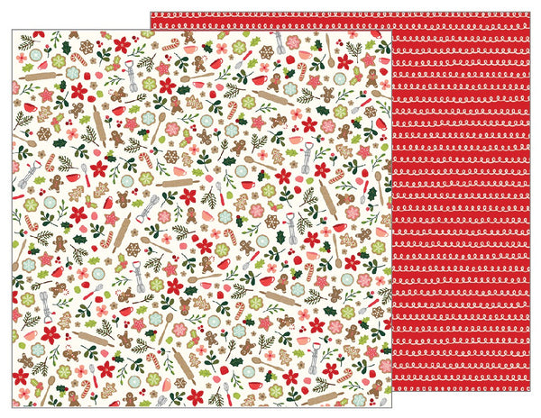 Pebbles, 12X12 Double-sided Patterned Paper, Merry Merry - Baking Delights