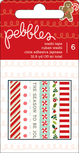 Pebbles, Merry Merry Washi Tape, 32.8 Yards