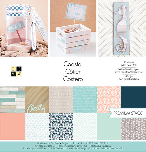 Die Cuts with a View, 12X12 Stack, Coastal (48 Sheets) - Scrapbooking Fairies