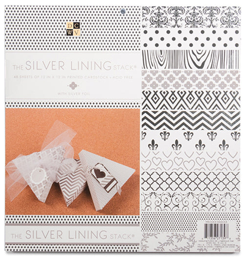 "DCWV Single-Sided Paper Stack 12""X12"" 48/Pkg, The Silver Lining Stack - Scrapbooking Fairies"