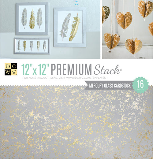 Die Cuts with a View, 12X12 Stack, Mercury Glass - Premium (16 Sheets) - Scrapbooking Fairies