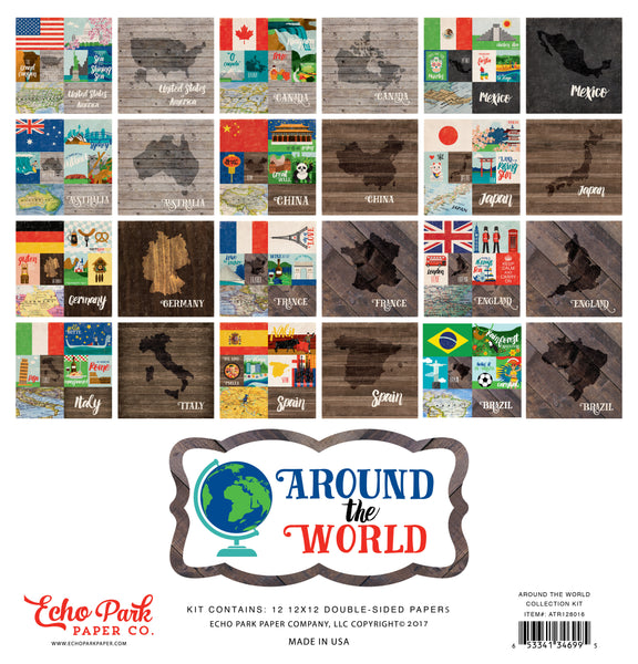 Echo Park Paper, Around The World Collection Kit - Scrapbooking Fairies