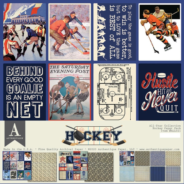 Authentique, All-Star Paper Pack, Hockey