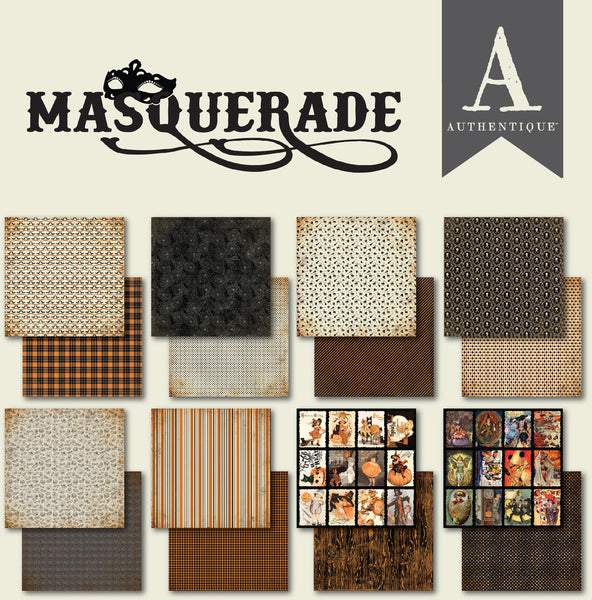 "Authentique Double-Sided Cardstock Pad 6""X6"" 24/Pkg, Masquerade"