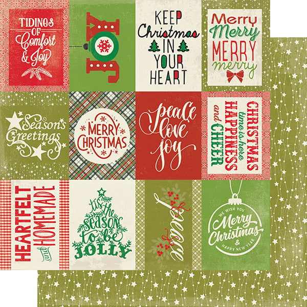 "Authentique Rejoice Double-Sided Cardstock 12""X12"", #22  Classic Christmas Cut-Aparts"