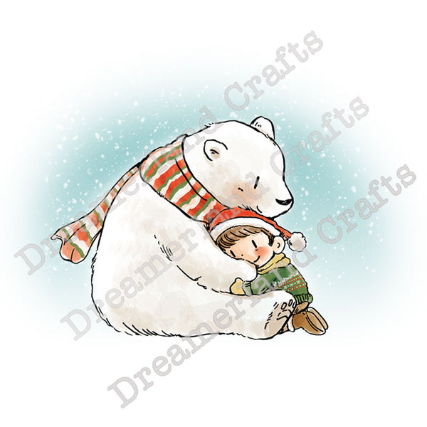 A Beary Big Hug, Cling Stamp - Scrapbooking Fairies