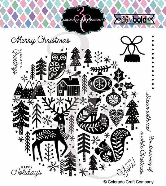 "Colorado Craft Company Clear Stamps 6""X6"", Big & Bold, Nordic Ornament"