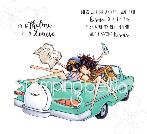 Stamping Bella, Cling Stamp, Uptown Girl's Thelma & Louise - Scrapbooking Fairies