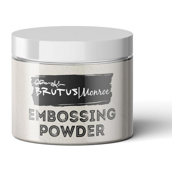 Brutus Monroe, Metallic Embossing Powder, Ultra Fine - Alabaster, (White) 1 oz.