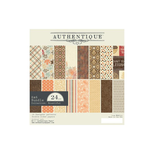 Authentique, Bountiful - 6x6 Paper Pad - Scrapbooking Fairies