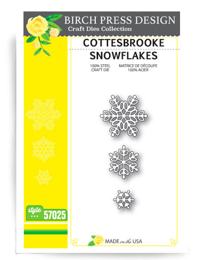 Birch Press Design, Cottesbrooke Snowflakes, Dies
