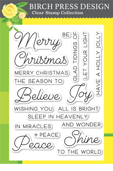 Birch Press Design, Joy & Peace, Clear Stamps