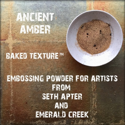 Emerald Creek, Baked Texture Embossing Powder - Ancient Amber, 17g
