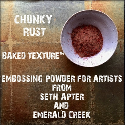 Emerald Creek, Baked Texture Embossing Powder - Chunky Rust, 15g
