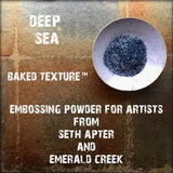 Emerald Creek, Seth Apter, Baked Texture Embossing Powder - Deep Sea