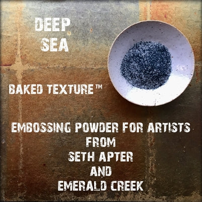 Emerald Creek, Baked Texture Embossing Powder - Deep Sea, 20g
