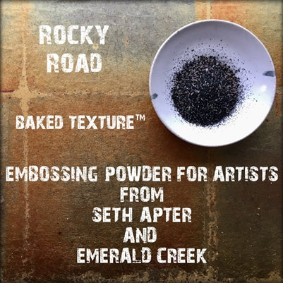 Emerald Creek, Baked Texture Embossing Powder - Rocky Road, 20g