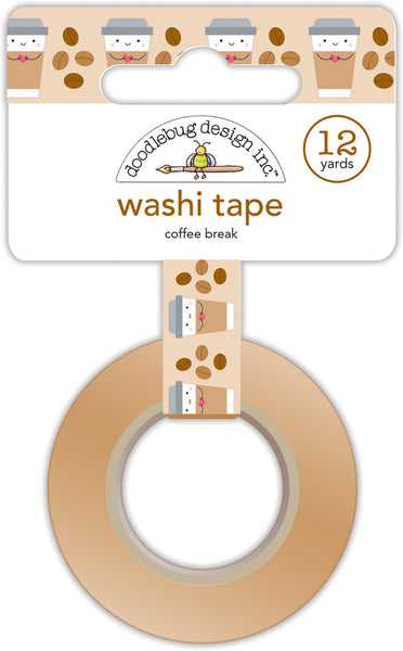 Doodlebug, Washi Tape, 15mmX12yd, Coffee Break