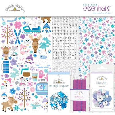 "Doodlebug Essentials Page Kit 12""X12"", Winter Wonderland"