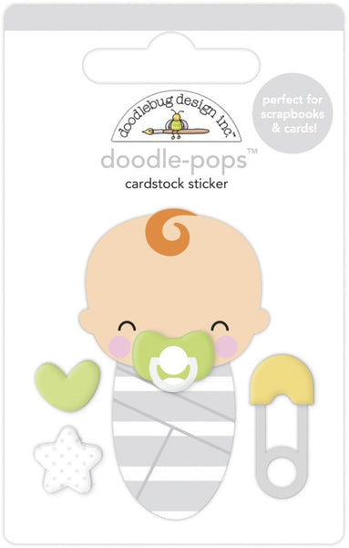 Doodlebug Doodle-Pops 3D Stickers, Sweet Dreams, Special Delivery