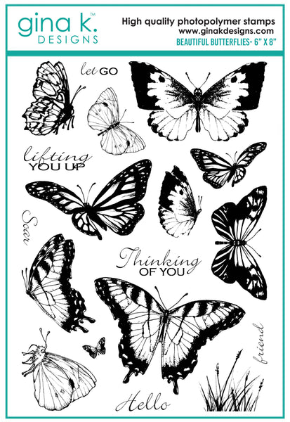 Gina K. Designs, Clear Stamps, Beautiful Butterflies