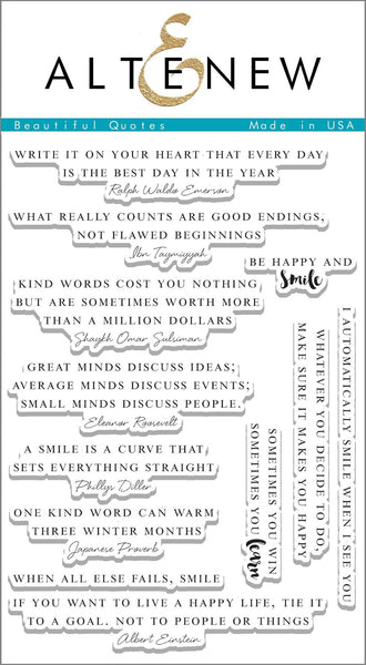 Altenew, Beautiful Quotes, Stamp Set