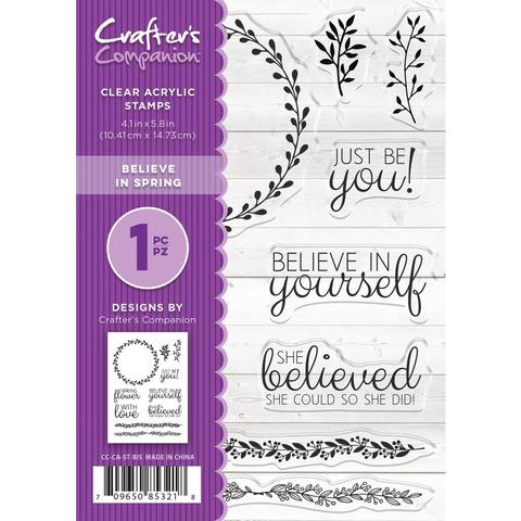 Crafter's Companion, Photopolymer Stamp - Believe In Spring