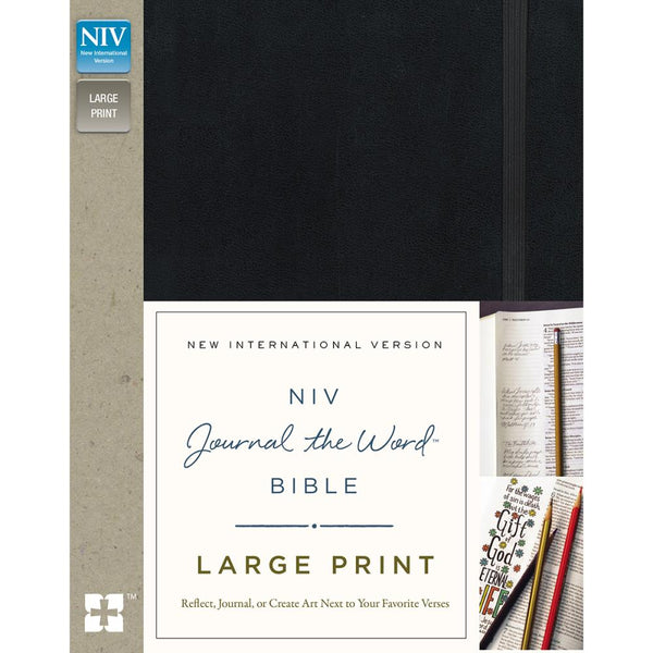 HarperCollins NIV Journal The Word Bible, Large Print, Black - Scrapbooking Fairies