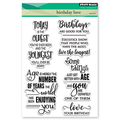 "Penny Black, Clear Stamps 5""X7"", Birthday Love"