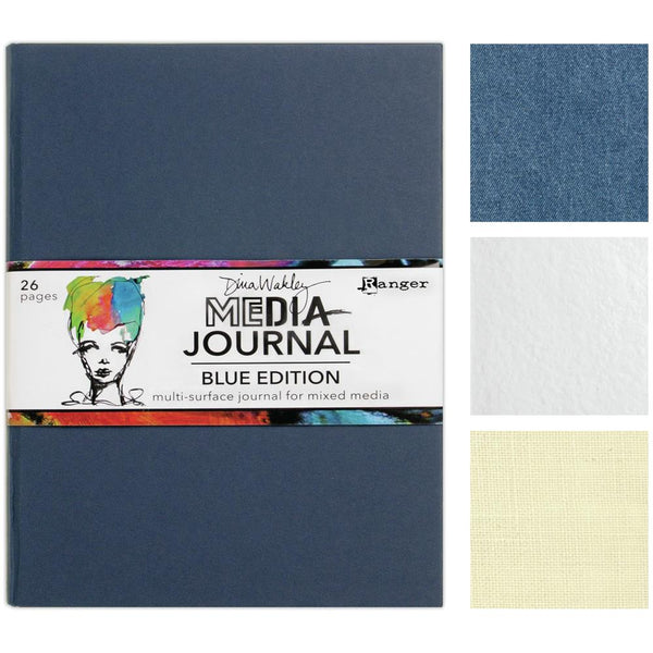 "Dina Wakley Media Journal 8""X10"", Blue Edition"