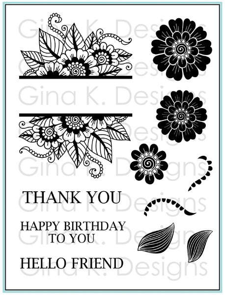 Gina K. Designs, Clear Stamps, Bold and Blooming
