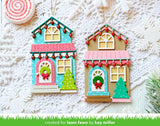 Lawn Fawn, Lawn Cuts Custom Craft Dies, Build-A-House Christmas Add-On