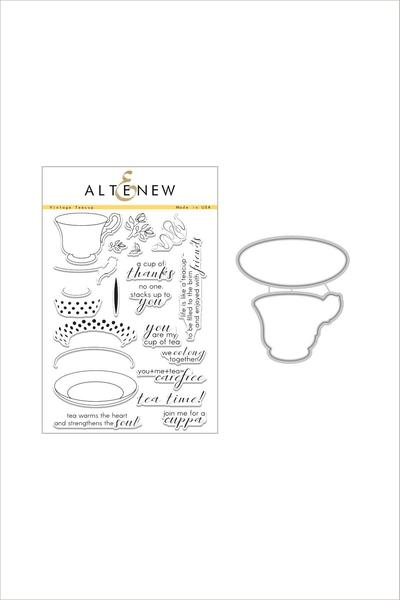 Altenew, Vintage Teacup Stamp & Die Bundle - Scrapbooking Fairies