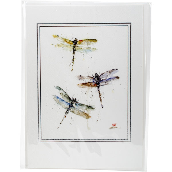 Paper House, Dragonflies Artist Series Blank Card - Scrapbooking Fairies