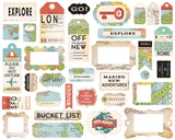Carta Bella, Frames & Tags Die Cut, 33/Pkg, Icons, Cartography No. 1