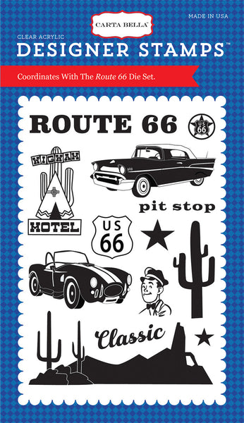 Echo Park, Route 66, 4x6 Stamp - Scrapbooking Fairies