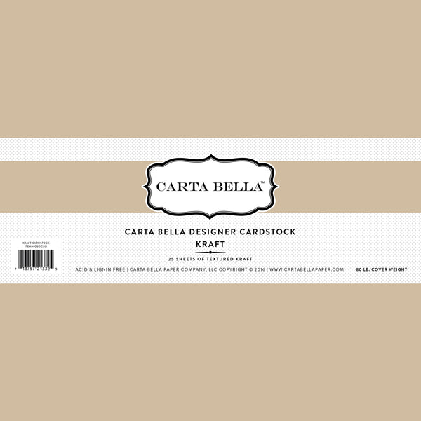 "Carta Bella Designer Cardstock, Kraft 80lb, 12""x12"" - Scrapbooking Fairies"