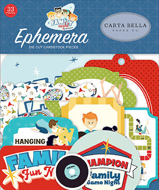 Carta Bella Cardstock Ephemera 33/Pkg, Icons, Family Night
