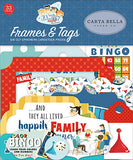 Carta Bella Cardstock Ephemera 33/Pkg, Frames & Tags, Family Night