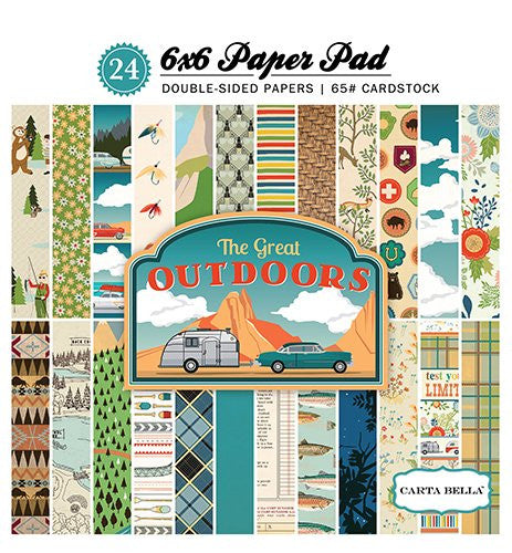 Echo Park, The Great Outdoors 6x6 Paper Pad - Scrapbooking Fairies