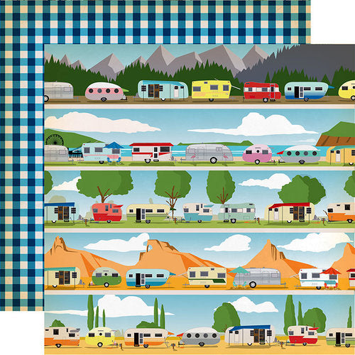 "Gone Camping, Double-Sided Cardstock 12""X12"" Happy Campers"