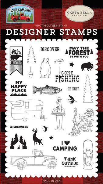 Carta Bella, Gone Camping by Steven Duncan, My Happy Place, Clear Stamps