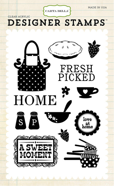Carta Bella, Home Sweet Home, Clear Stamps