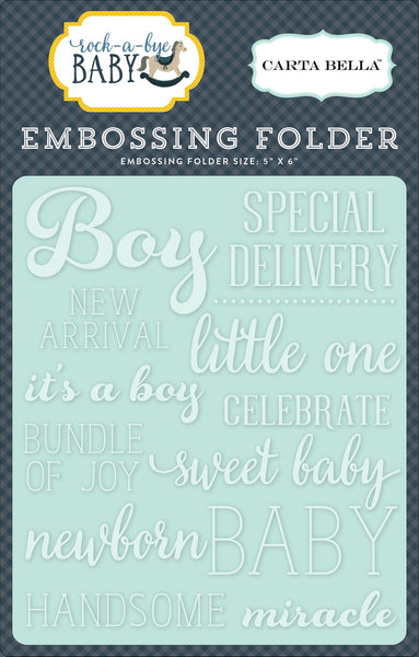 Little One Boy Embossing Folder - Scrapbooking Fairies